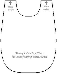 baby bib template pinterest bavoirs gabarit et patron. Black Bedroom Furniture Sets. Home Design Ideas