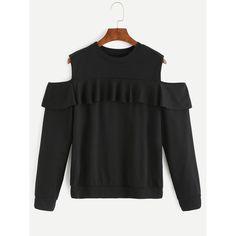 RomeX Bring this Off shoulder Blac... Check it out http://www.romexnewyork.com/products/off-shoulder-black-ruffle-sweatshirt?utm_campaign=social_autopilot&utm_source=pin&utm_medium=pin