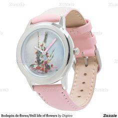 Bodegón de flores/Still life of flowers Reloj