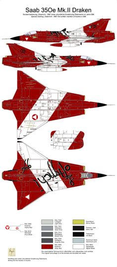 J-35Ö Mk.II Draken 'Ostarrichi - 996' Color Profile and Paint Guide Added