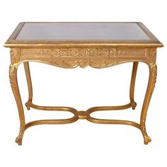 Belle Époque Gilded Writing Table in the Style of Louis XV Antique Console Table, Antique Tables, Console Tables, Writing Table, Modern Side Table, Affordable Furniture, Belle Epoque, Table Furniture, Entryway Tables