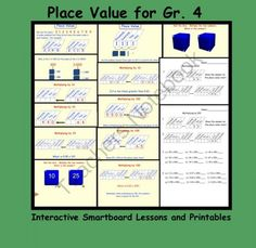 Place Value for Gr. 4 Interactive SMARTboard Lessons from Teaching The Smart Way on TeachersNotebook.com (14 pages)