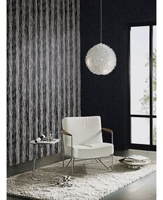 This Bark Glitter Wallpaper in black, grey and silver features a contemporary pattern infused with subtle glitter. Free UK delivery available Glittery Wallpaper, Striped Wallpaper, Wood Effect Wallpaper, Free Uk, Delivery, Wall Decor, Colours, Curtains, Contemporary