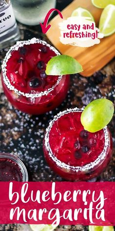 Blueberry margaritas are easy with fresh or frozen blueberries, simple syrup and your favorite tequila. Make as a single cocktail or a pitcher for you and your guests! Mixed Drinks Alcohol, Drinks Alcohol Recipes, Drink Recipes, Frozen Blueberries, Summer Drinks, Fun Drinks, Beverages, Blueberry Margarita, Margaritas