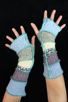 Arm Warmers made from upcycled sweaters