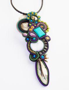 Soutace jewelry.Soutache necklace.OOAK.Handmade di beadsbyPanka
