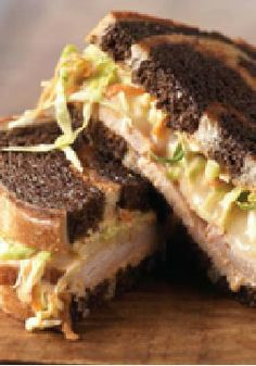 Slammin' Sandwich -- This quick and easy sandwich takes less than 30 minutes to make. Top two pieces of rye bread with turkey, swiss and coleslaw.