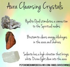 Crystals for aura cleansing