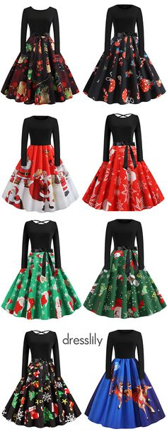 Vintage Dresses for Christmas Party Christmas Dresses with Long Sleeves & Printed Patterns Shop vintage style women dresses for the. Cocktail Party Outfit, Holiday Party Outfit Casual, Christmas Style, Christmas Dress Women, Christmas Party Outfits, Christmas Costumes, Vintage Christmas, Christmas Party Hairstyles, Thanksgiving Outfit Women