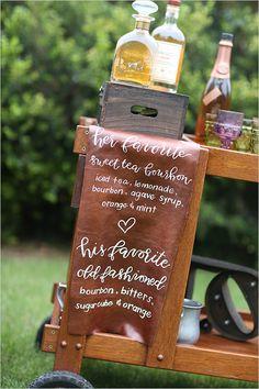 signature drink ideas @weddingchicks