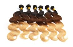1b33#27# 3Tone Ombre Real Human Hair Extensions 50g/pcs Body Wave Hair Wefts New #WIGISS
