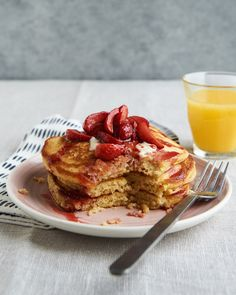 Cornbread pancakes while they feel like something you'd whip up on a special occasion, they're super simple to make — as easy as regular ol' pancakes. Here's how to make the delicious, easy, filling breakfast or brunch.