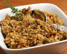 Paula Deen Recipe: Southern Brown Rice with Mushrooms