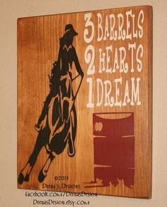 Barrel Racing Wall Decor Cowgirl Wall Art Cowgirl by DeenasDesign, $38.00