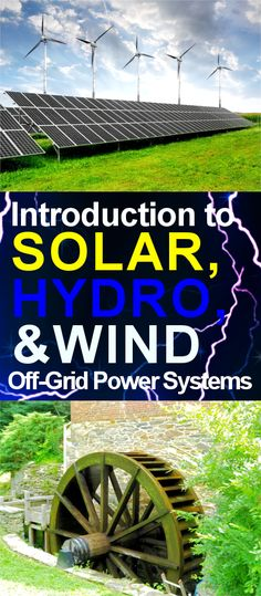 alternative energy This article introduces what you need to know and consider before utilizing wind, hydro, or solar off-grid power systems for your tiny home. Solar Energy Panels, Best Solar Panels, Off Grid Solar Power, Diy Solar, Alternative Energie, Alternative Energy Sources, Solar Roof, Solar Projects, Energy Projects