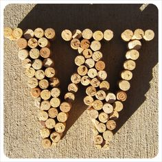 Monogram letter from wine corks.. Need to figure out something to do with all the wine corks I keep saving!