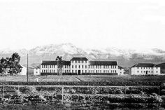 School for the Deaf in Worcester newly built in 1881 with snowy mountains in the background Snowy Mountains, Worcester, Cape Town, South Africa, Westerns, History, School, Building, Travel
