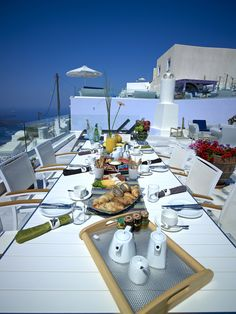 What a great way to start your day! #Santorini morning view at Hotel Kallisto! Enjoy!!