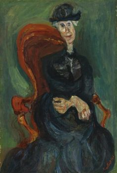 View La Vieille Dame Assise By Chaim Soutine; Oil on canvas; Access more artwork lots and estimated & realized auction prices on MutualArt. Chaim Soutine, Web Gallery, Classic Paintings, Portrait Art, Portraits, Henri Matisse, French Artists, Figurative Art, Love Art