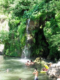 The magical land of Krause Springs in Spicewood , Texas