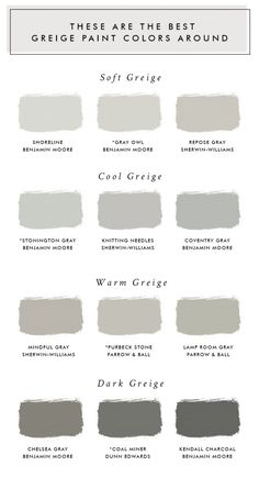 These Are The Best Greige Paint Colors Around - Laurel Harrison - Living room paint colors - greige color Exterior Paint Colors For House, Paint Colors For Living Room, Interior Paint Colors, Paint Colors For Home, Interior Painting, Gray Interior, Country Interior, Interior Design, Lowes Paint Colors