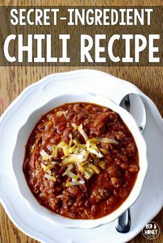 I've been searching for the perfect chili recipe for YEARS now, and I've finally found it!! This one's absolutely perfect.