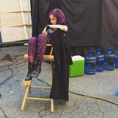 Even behind the scenes she is still amazing