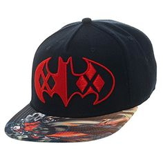 ce3108fbf43 Batman Harley Quinn Sublimated Snapback Hat DC Comics https   www.amazon.