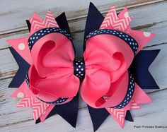 Owl Inspired Hair Bows Girls Hair Bows Boutique Hair by Valbow