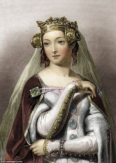Much loved: Quiet, firm, and capable, Phillipa of Hainault became Queen of England aged 13 and reigned for 40 years