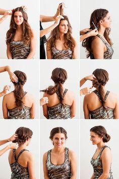 quick and easy diy hairstyles - Frisuren Oscar Hairstyles, Retro Hairstyles, Bouncy Hair, Hair To One Side, Braided Hairstyles Tutorials, Hair Tutorials, Hair Flip, Hair Dos, Prom Hair