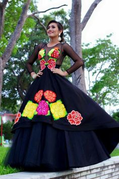 Vestidos Bordados Oax Mex