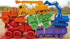 Learn Colors With Cars Toys Road Roller Fire Truck Dump Truck Toy Cars for Kids Toy Trucks, Fire Trucks, Toy Cars For Kids, Dump Truck, Learning Colors, Childcare, Toys, Activity Toys, Fire Engine
