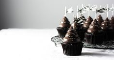 Moist midnight cocoa cupcakes topped with dark chocolate sour cream dream frosting. These cupcakes will give you a reason to stay up until the ball drops!