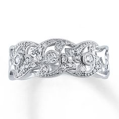 Diamond Anniversary Ring 1/4 ct tw Round-cut 10K White Gold. I want this for my anniversary in July. I think I deserve it after 10 years...
