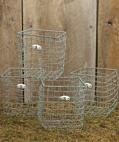 Another great find on #zulily! Numbers Wire Basket Set #zulilyfinds