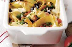 18x zapečené těstoviny | Apetitonline.cz Mozzarella, Potato Salad, Menu, Potatoes, Ethnic Recipes, Food, Lasagna, Red Peppers, Menu Board Design