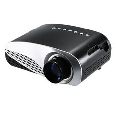 High Quality Mini LED Projector HD Contrast Ratio 500:1 with HDMI/SD/USB/Audio/VGA/AV for Home Theater Notebook Smart phones EU Plug from tomtop.com