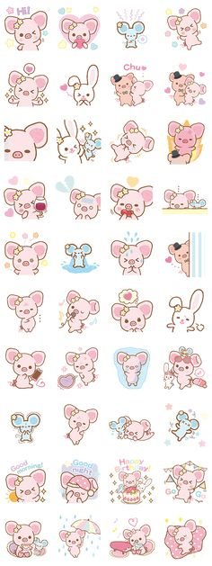 画像 - Piggy Girl's Pinkish Days by Imagineer Co.,Ltd. / San-X Co., Ltd. - Line.me