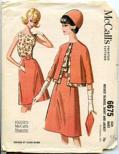 1960s Vintage Pattern McCall's