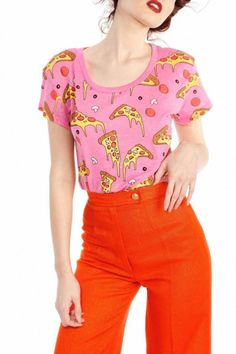 Shoptiques Product: Extra-Cheese Pizza Tee - main