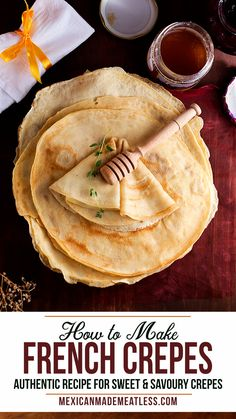 This easy crepe recipe makes the best crepes! If you are looking for a basic . Dinner Crepes, Breakfast Crepes, Breakfast For Dinner, Breakfast Ideas, Breakfast Sandwiches, Breakfast Bowls, Easy Crepe Recipe, Crepe Recipes, Waffle Recipes