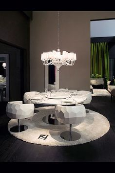 Contemporary dining room. Fendi Casa contemporary furniture, home furniture, luxury homes, high end furniture, home decor ideas,