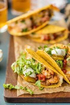 This Baked Chicken Tacos Recipe is PERFECT for a quick weeknight dinner! OVEN BAKED chicken tacos have lots of flavor and none of the stress. This Easy Chicken Tacos Recipe is the most popular recipe on The Cookie Rookie and has been pinned over 2 million times. Have you tried it?