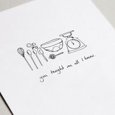 [ You taught me everything I know how to bake greeting cards. Of the mother An Apple Crisp has a str Chef Tattoo, Tattoo Maker, Baking Tattoo, Culinary Tattoos, Food Doodles, Hand Illustration, Unique Tattoos, Tattoo Designs, Sketches