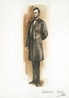 Since the color black often appears too dense on camera, Johnston played with varying shades for Lincoln's frock coat. Originally, she considered dark green.