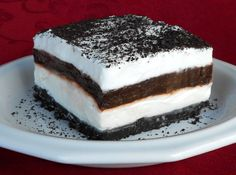 Layered Oreo Dessert - Easy to make and a big hit with everyone in the family.    Happy 100th Birthday, Oreo!  (1912-2012)