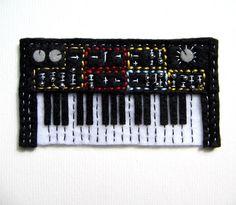 Synthesizer Retro 80s Hand Sewn Felt Fridge Magnet by Durlzy