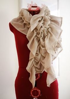 How to make a ruffled scarf