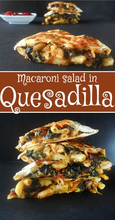 If you want to make quick and easy dinners for the whole family, make these Vegetarian quesadillas with macaroni salad. Vegetarian meals for kids.